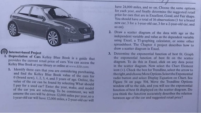 1 Internet Based Project L Depreciation Of Cars Kelley Blue Book Is A Guide