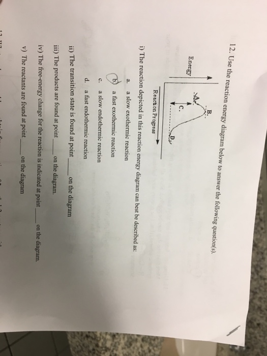 Solved Use The Reaction Energy Diagram Below To Answer Th