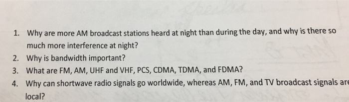 Solved: Why Are More AM Broadcast Stations Heard At Night