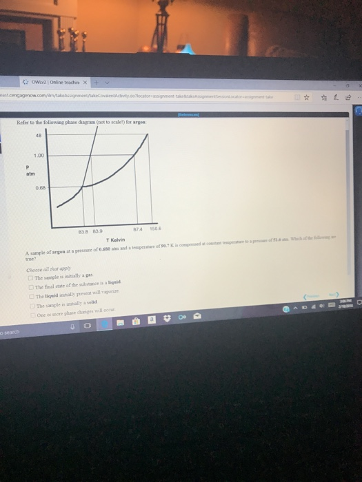 Refer To The Following Phase Diagram Not To Scale Chegg