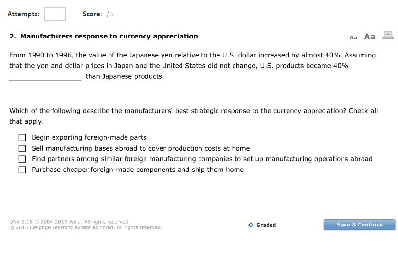 Solved: Attempts Score: 5 2  Manufacturers Response To Cur