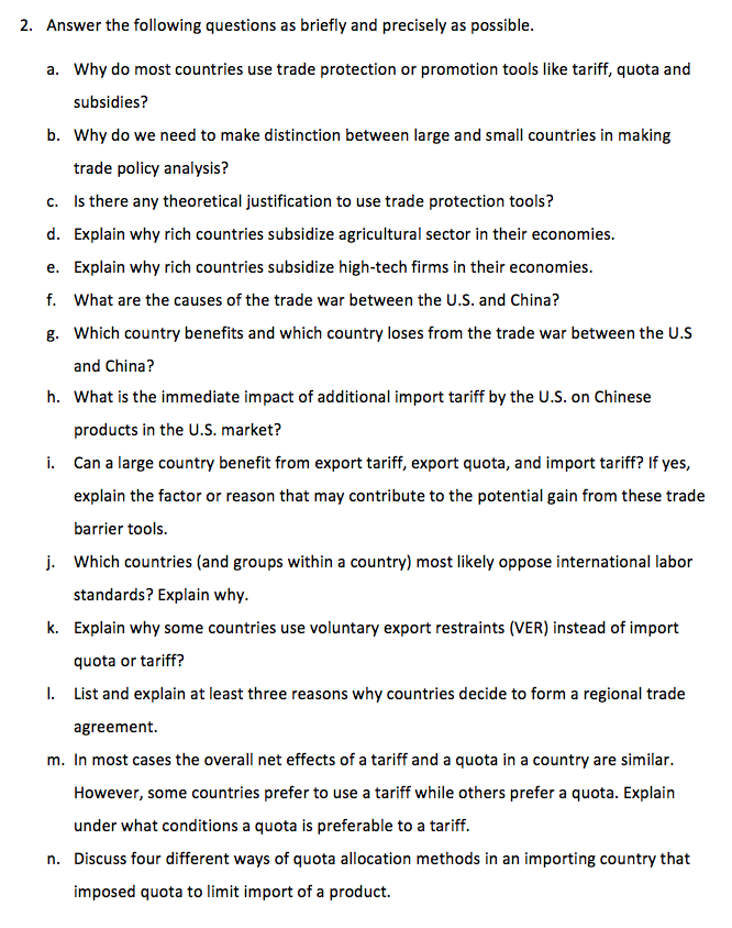 Solved: 2  Answer The Following Questions As Briefly And P