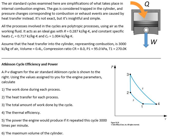the air standard cycles examined here are simplifications of what takes  place in internal combustion engines