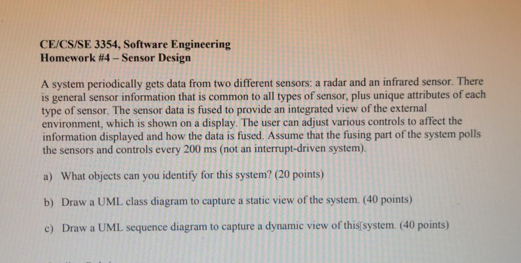Solved Ce Cs Se 3354 Software Engineering Homework 4 Se Chegg Com