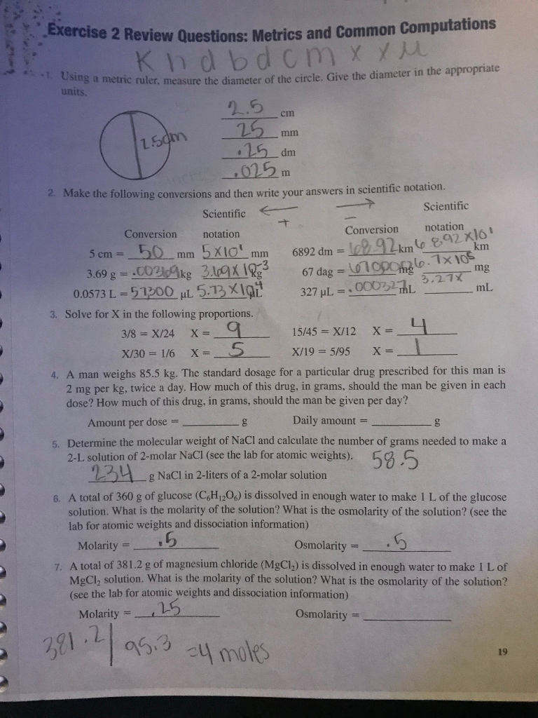 Solved: Exercise 2 Review Questions: Metrics And Common Co