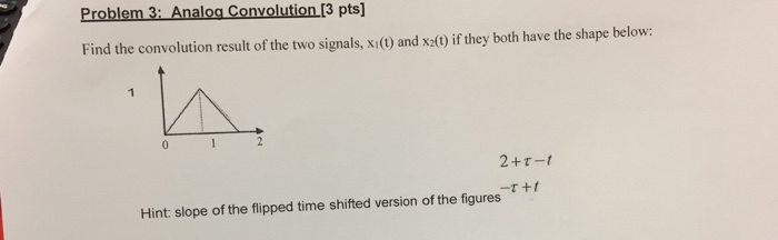 Problem 3 Oa Convolution I3 Pts Find The Result Of Two