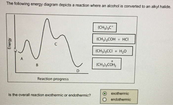 Solved The Following Energy Diagram Depicts A Reaction Wh