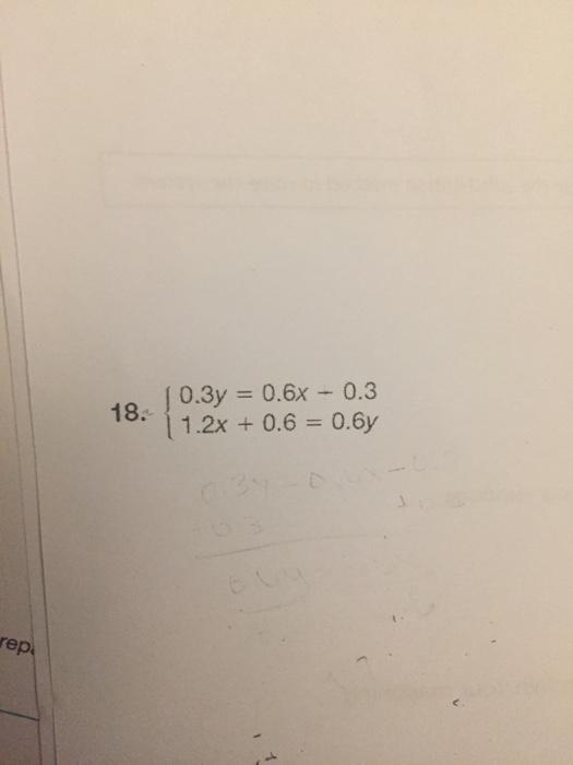 18. 0.3y 0.6x 0.3 0.6y 1.2x 0.6