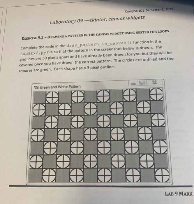 Solved: Compscii01 Semester 1, 2019 Laboratory 09-tkinter