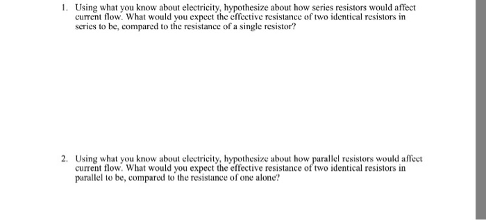 Solved: Using What You Know About Electricity, Hypothesize ...