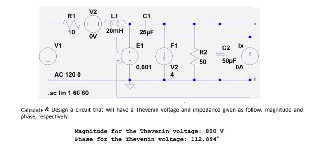 solved design a circuit that will have a thevenin voltage rh chegg com