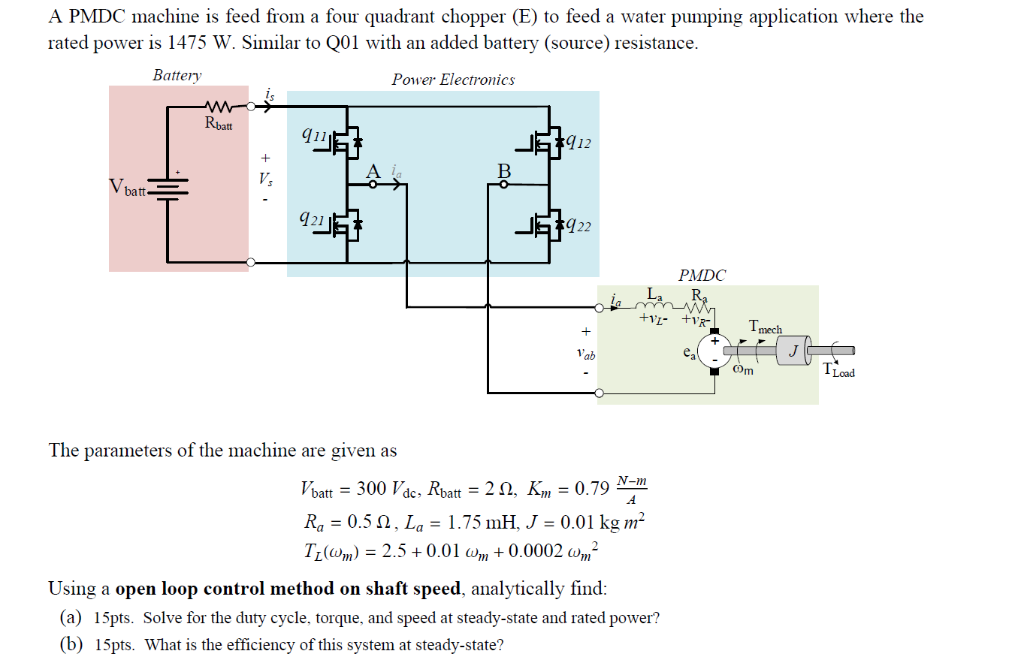 Solved: A PMDC Machine Is Feed From A Four Quadrant Choppe