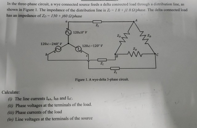 240 volt house solved: in the three-phase circuit, a wye connected  source