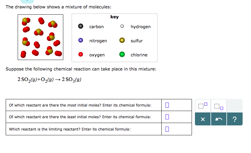Solved The Drawing Below Shows A Mixture Of Molecules Ke