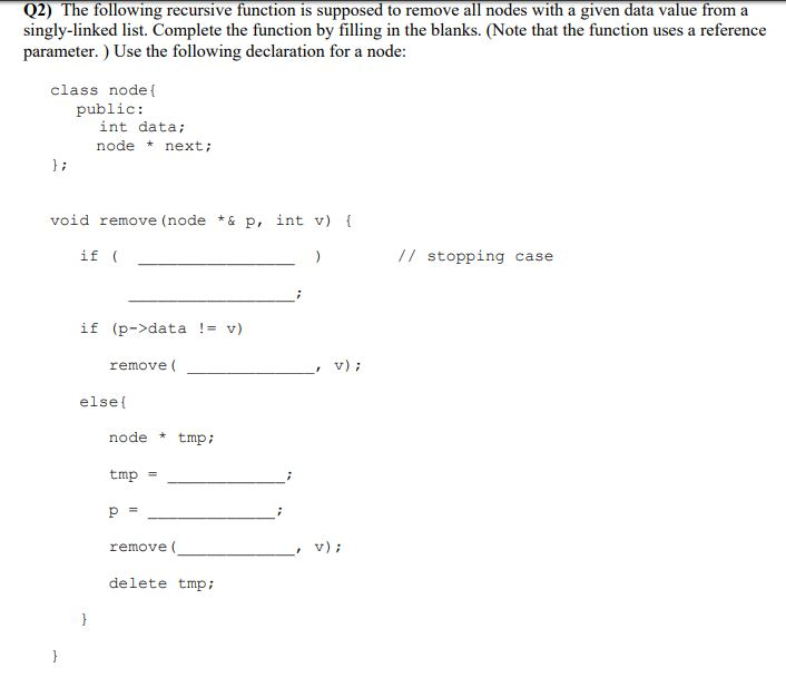 solved q2 the following recursive function is supposed t