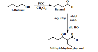 NaOH Or KOH Gives 2 Ethyl 3 Hydroxy Hexanal Which On Heating Loses Water Molecule And