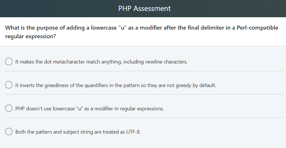 Solved: PHP Assessment What Causes The