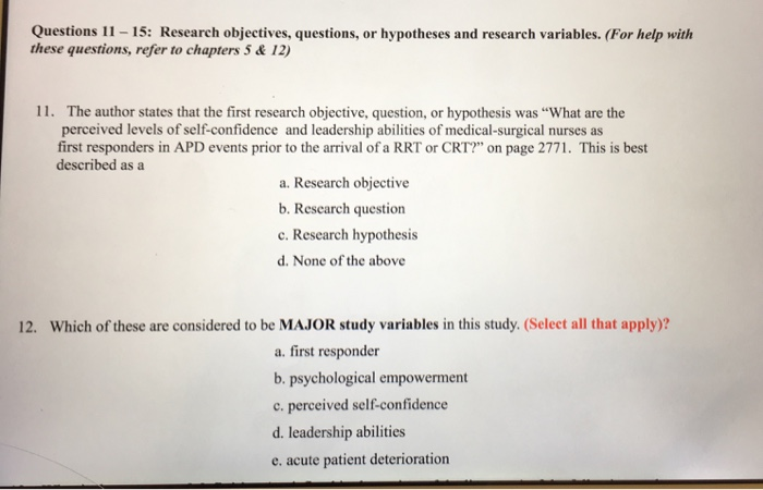 leadership research questions