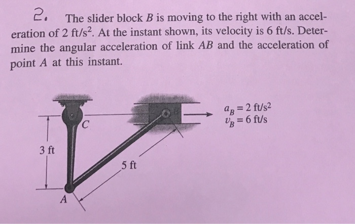 Solved: The Slider Block B Is Moving To The Right With An