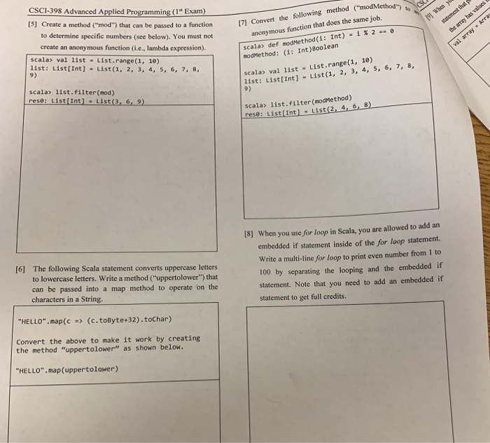 Solved: CSCI-398 Advanced Applied Programming (1st Exam) 1