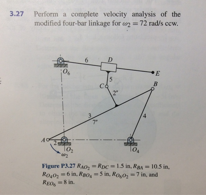 Solved 327 perform a complete velocity analysis of the m 327 perform a complete velocity analysis of the modified four bar linkage for 2 ccuart Image collections