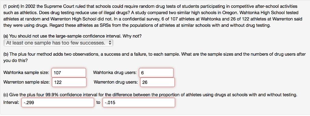 high school athletes should be drug tested
