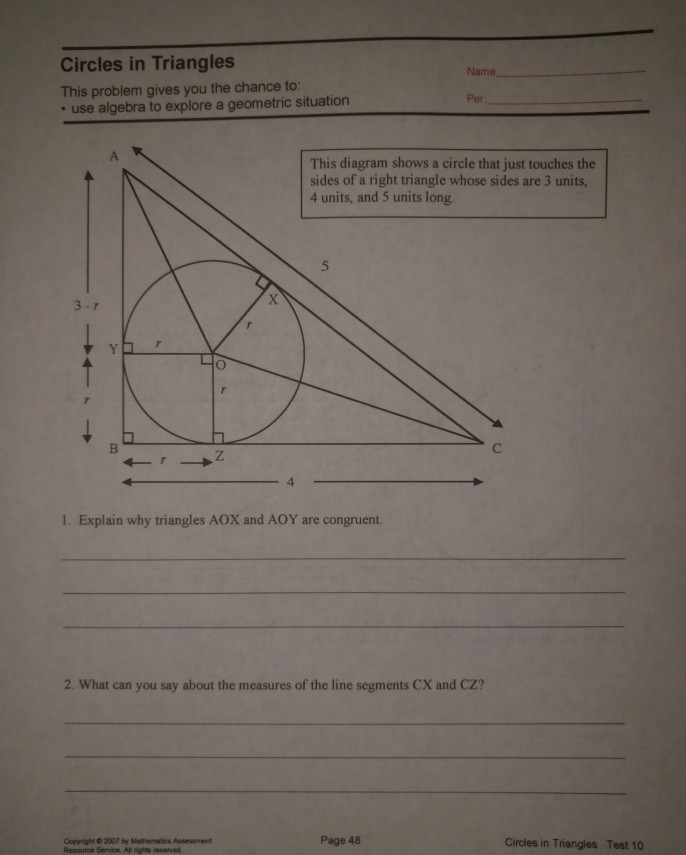 Bestseller: Circles Test Answers