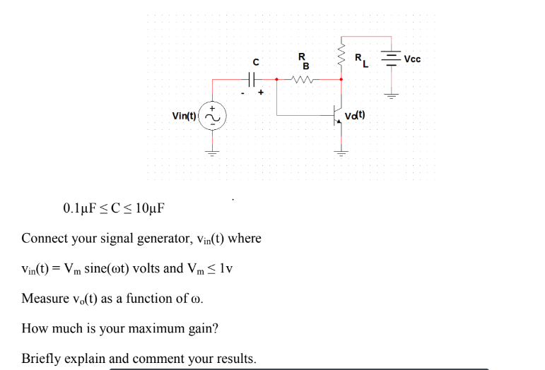 Solved: Vintt) 0 1 F C 10 F Connect Your Signal Generator