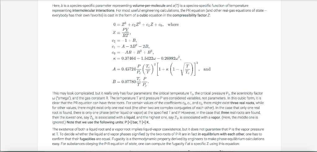 6 24 LAB: Vapor Pressure Calculation using the Peng-Robinson