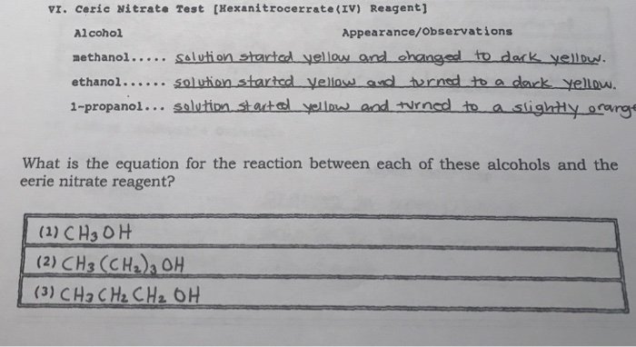 Solved: What Is The Equation For The Reaction Between Each