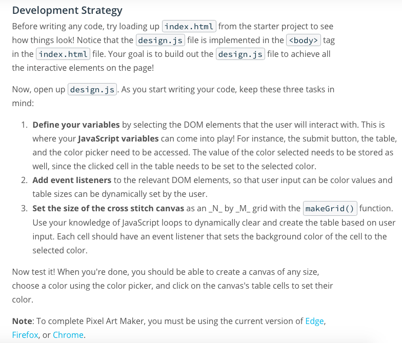 The Pixel Art Maker Repository On GitHub Link ----    | Chegg com