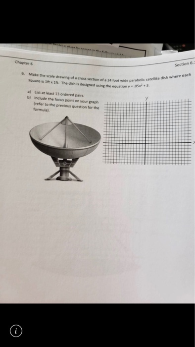 Solved: A Satellite Dish Is A Precise Mathematical Shape