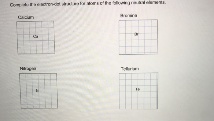 Solved Complete The Electron Dot Structure For Atoms Of T