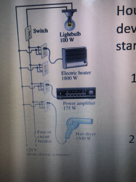 Solved: Example Circuit (parallel) And Fuses Household Cir ...