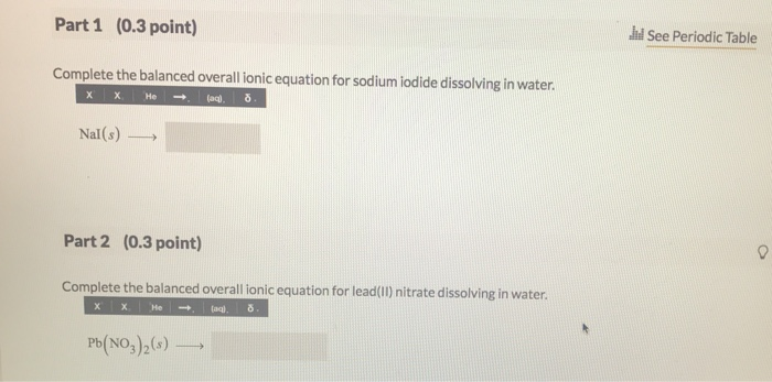 Solved Many Ionic Compounds Are Water Soluble So For Ex