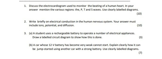 Solved Discuss The Electrocardiogram Used To Monitor The