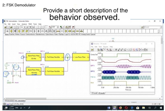Solved: 2: FSK Demodulator Provide A Short Description Of