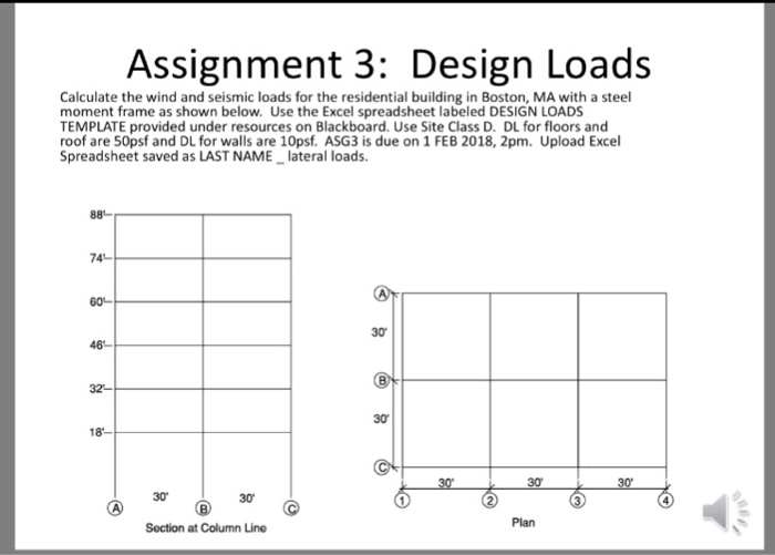 Assignment 3: Design Loads Calculate The Wind And     | Chegg com