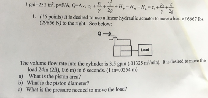 Solved: It Is Desired To Use A Linear Hydraulic Actuator T