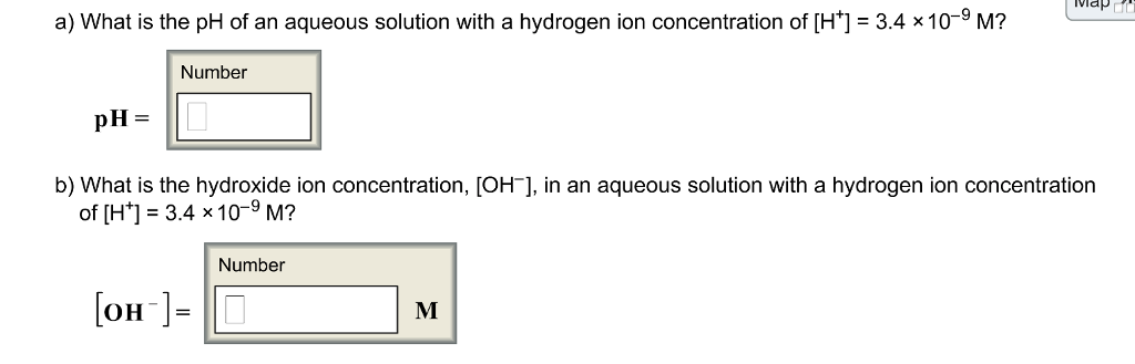 Solved: A) What Is The PH Of An Aqueous Solution With A Hy