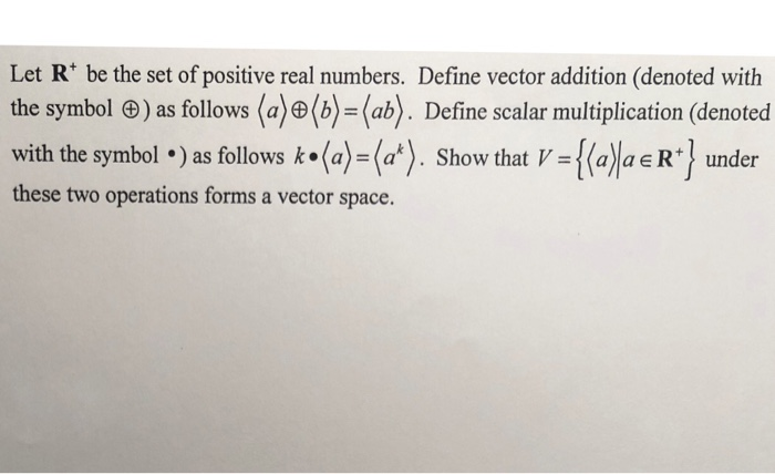 Solved Let R Be The Set Of Positive Real Numbers Define
