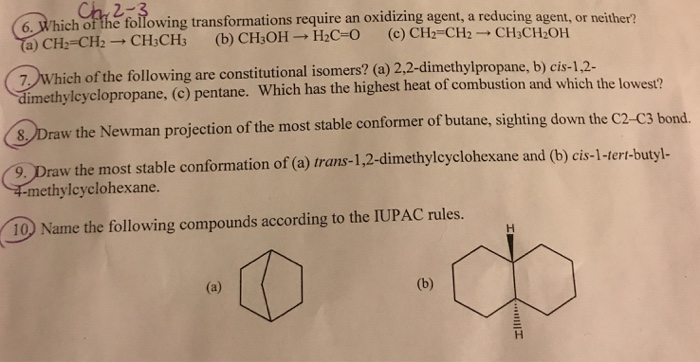 Solved: Organic Chemistry Chapter 2-3 Can Someone Please E