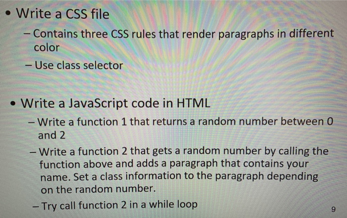 Solved:   Write A CSS File Contains Three CSS Rules That R