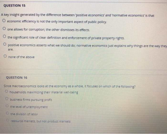 difference positive and normative economics