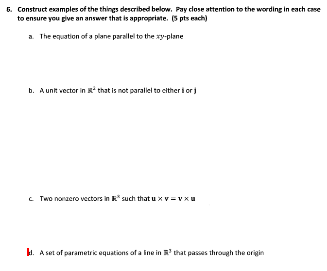 Solved: Construct Examples Of The Things Described Below