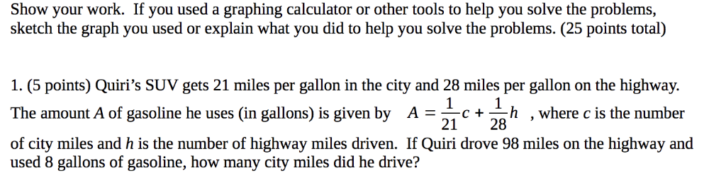 If You Used A Graphing Calculator Or Other Tools To Help Solve The Problems