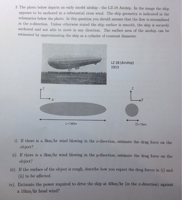Solved: The Photo Below Depicts An Early Model Airship - T ... on