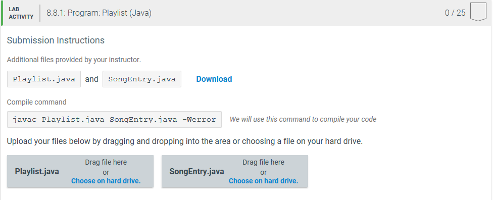 Solved: 8 8 Program: Playlist (Java) You Will Be Building
