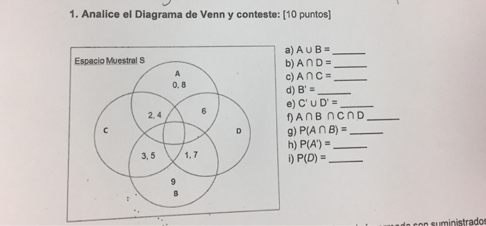 Solved analice el diagrama de venn y conteste a a union analice el diagrama de venn y conteste 10 puntos a ccuart Choice Image
