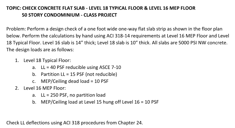 Topic Check Concrete Flat Slab Level 18 Typical F Chegg Com